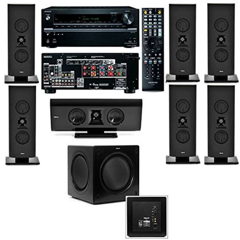 klipsch gallery g 16 7 1 home theater system sw 112 onkyo