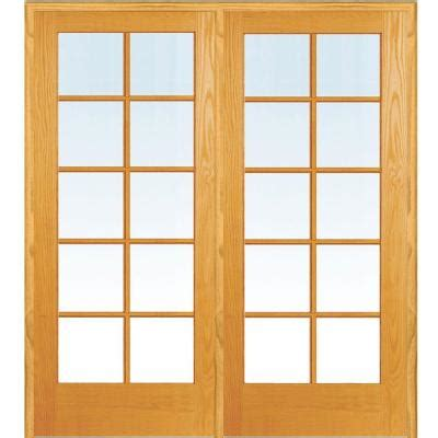 masonite smooth 10 lite french solid core unfinished pine masonite 48 in x 80 in smooth 10 lite solid core primed