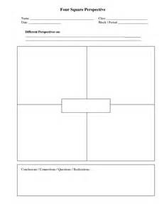 foursquare templates four square template 28 images 3rd grade batch of