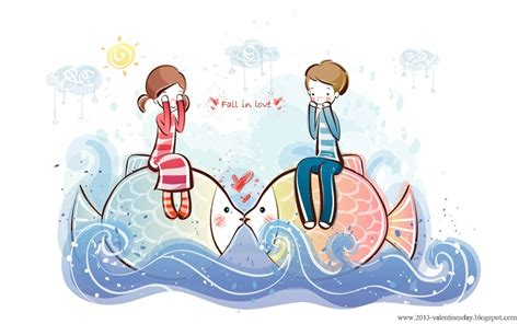 wallpaper of couple cartoon cute cartoon couple love hd wallpapers for valentines day