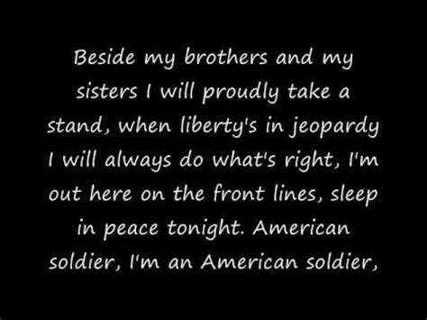 An American Lyrics Toby Keith S American Soldier With Lyrics