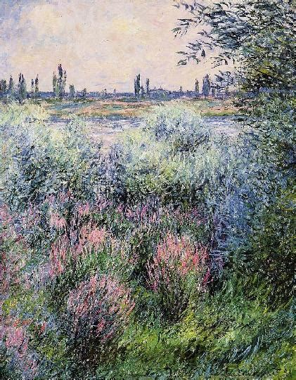 on the bank of the seine a spot on the bank of the seine by claude monet
