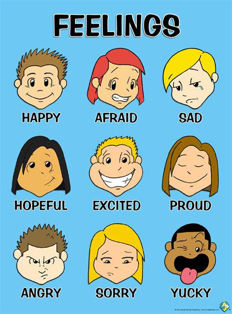 free printable emotions poster preschool toon feelings poster hand drawn digitally