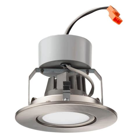 lithonia lighting 65bemw led 30k m6 lithonia lighting 4 in brushed nickel recessed gimbal led