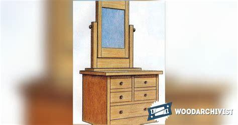 Vanity Plans by Vanity Dresser Plans Woodarchivist