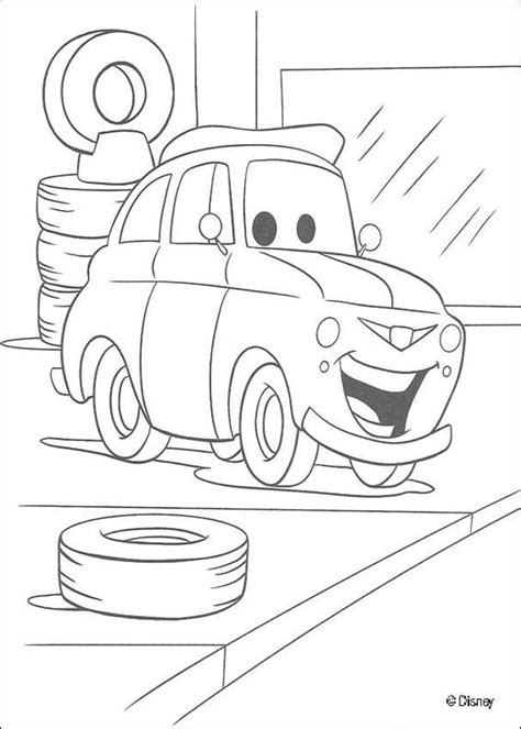 car garage coloring page luigi in the garage coloring pages hellokids com