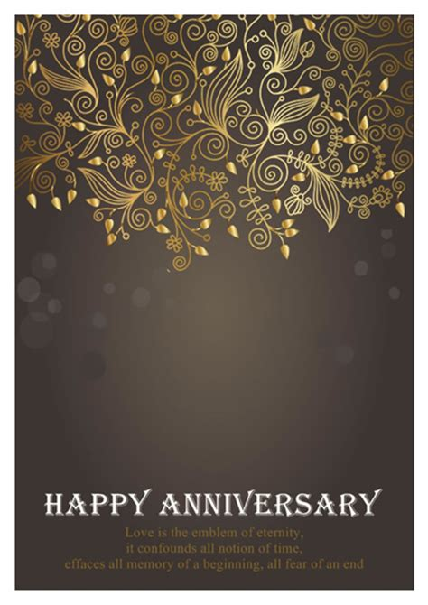 free anniversary card templates anniversary card templates greeting card builder