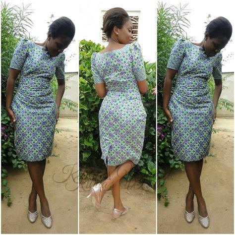 violet  kibua designs short kitenge dress draft