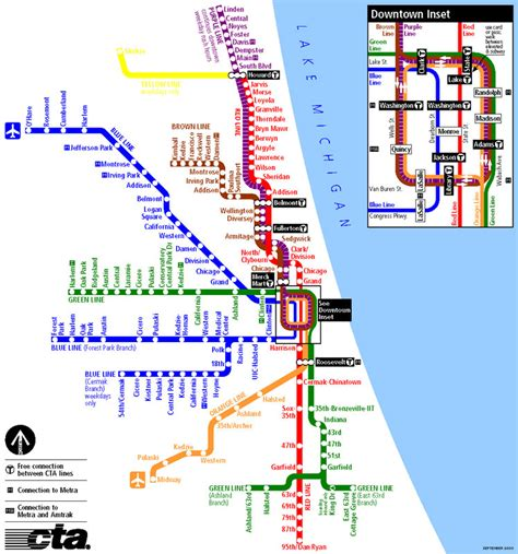 chicago metro map metro s subways and underground transport maps