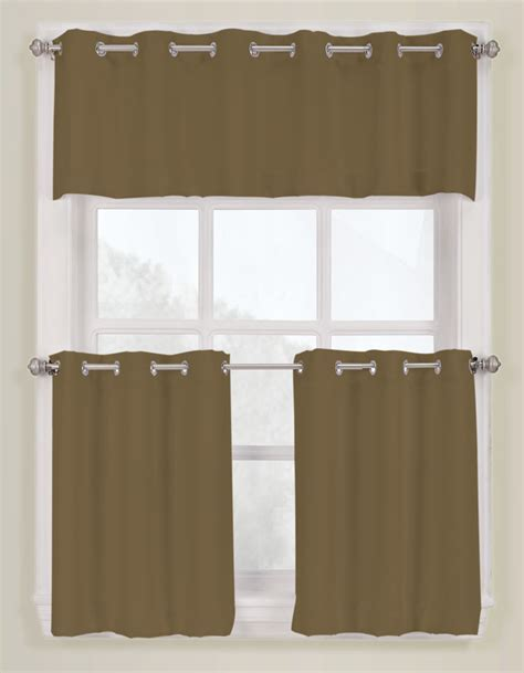 s lichtenberg montego grommet kitchen curtains taupe