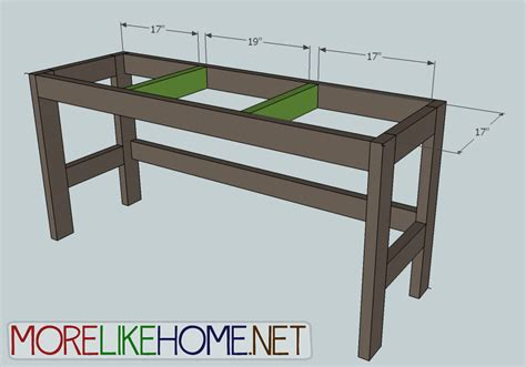 Student Desk Plans To Build by More Like Home Day 2 Build A Casual Desk With 2x4s