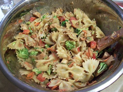 thai pasta salad thai chicken pasta salad