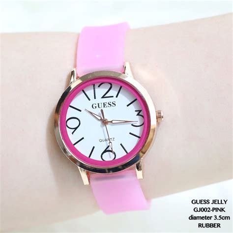 Jam Tangan Wanita Fashion Import jual jam tangan wanita fashion guess fossil karet import
