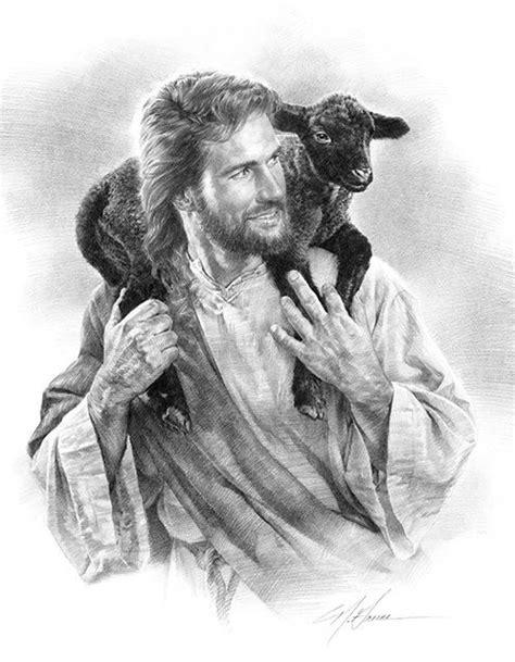 nathan greene the good shepherd jesus black lamb sheep