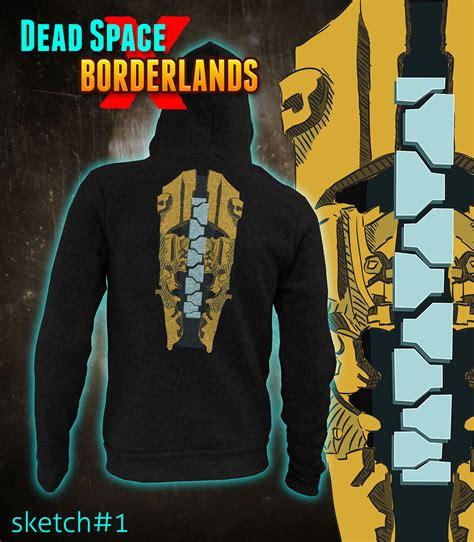 Hoodie Biru Dongker Dead Space dead space x borderlands hoodie by tomgreystone on deviantart
