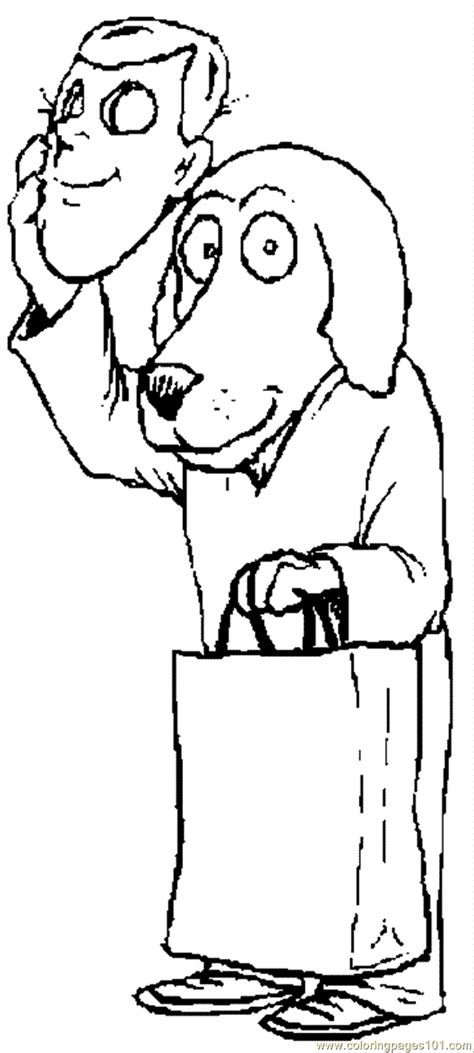 dog man coloring page  dog coloring pages