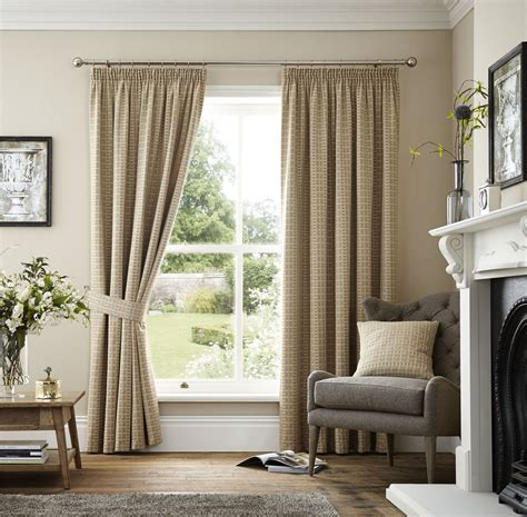 beige lined curtains embroidered lattice beige lined pencil pleat curtains 7