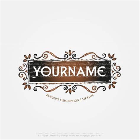 vintage frame logo template