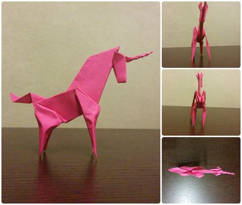 Origami Unicorn Easy - unicornio f 225 cil de origami easy origami unicorn my