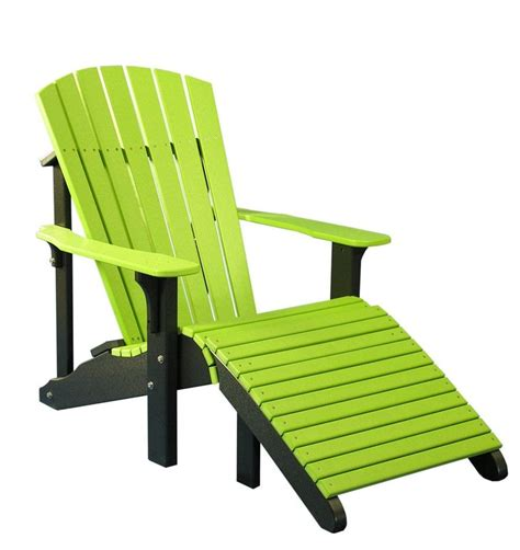 colored chairs outdoor deluxe adirondack chair footrest multiple