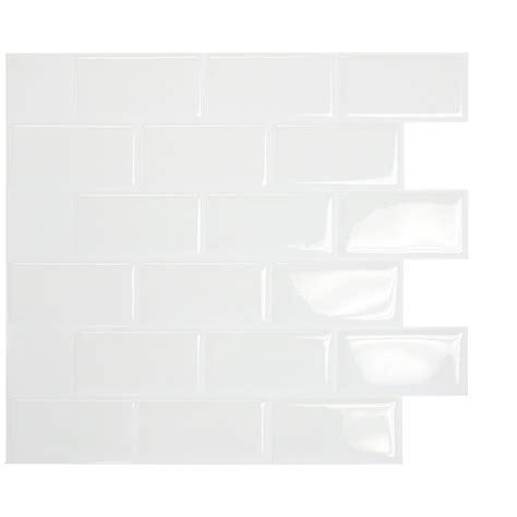 stick on tiles bathroom smart tiles mosaik subway white 10 95 quot x 9 70 quot peel
