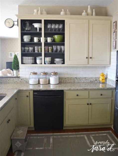 do you tile under kitchen cabinets kitchen mini makeover subway tile sincerely sara d