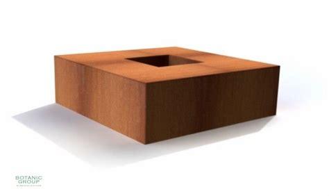 feuerschale aus cortenstahl feuerschale designline cube aus cortenstahl
