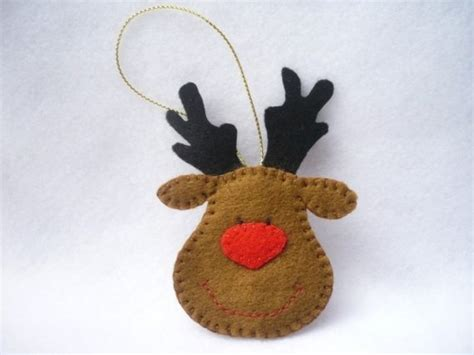 rudolph the red nose reindeer felt christmas ornament