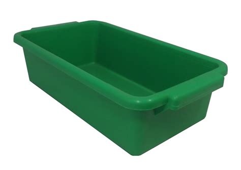 Garden Bench Box With Storage by Tb250g Tote Bin Green Kabi Plastics