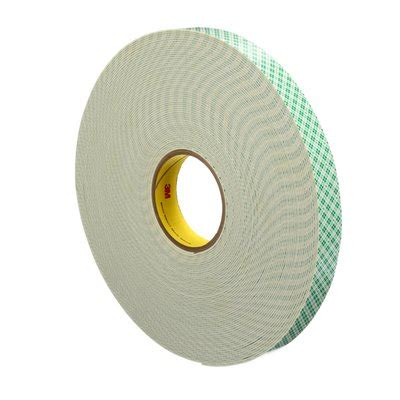 3m™ double coated urethane foam tape, 4026, natural, 1 in