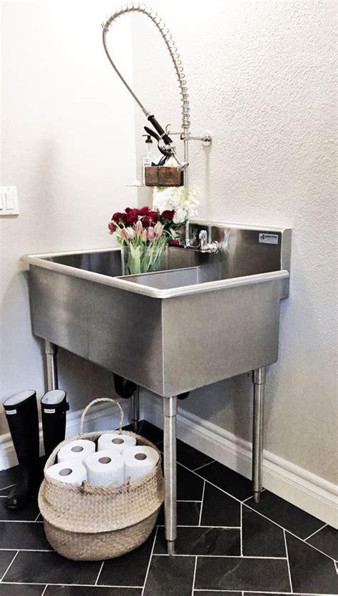 greige design laundry room week 6 one room challenge industrial laundry room sink