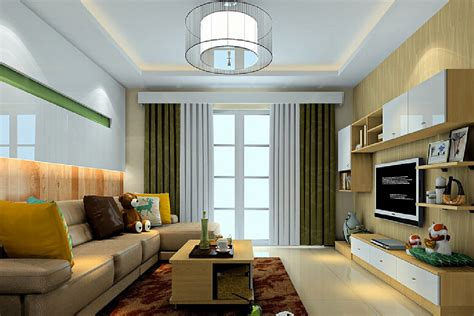 American Ceiling Design American Modern Living Room Suspended Ceiling And Curtains