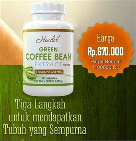 Hendel Exitox Green Coffee Bean hendel exitox green coffee bean extract obat pelangsing