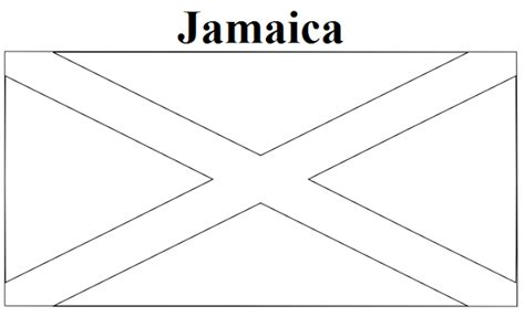 Geography Blog Jamaica Flag Coloring Page Jamaican Flag Coloring Page