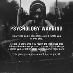 What video game is this quot psychology warning quot from yahoo answers