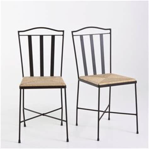 chaises fer forg 233 assise paille table de lit