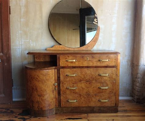 Deco Dresser With Mirror by Deco Burl Maple Dresser With Mirror Omero Home