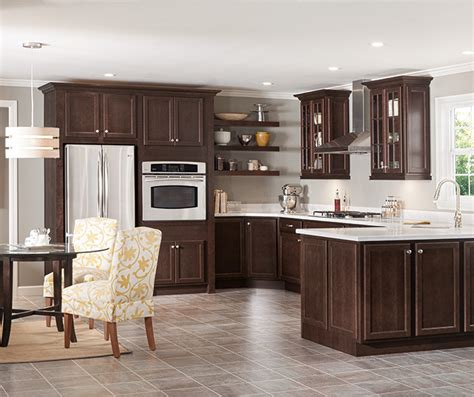 kitchen cabinets cherry finish dark cherry kitchen cabinets homecrest cabinetry