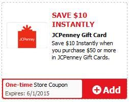 Jcpenney Gift Card 30 Off - updated safeway 50 jcpenney card for 30 after e coupon and instant promo