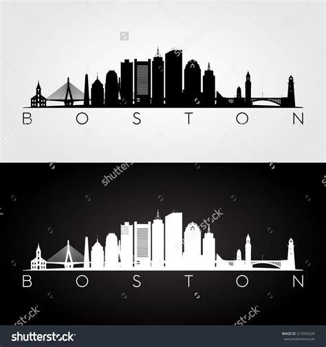 boston skyline tattoo boston usa skyline and landmarks silhouette black and