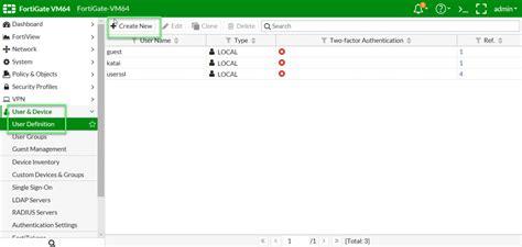 fortigate   configure user authentication ldap