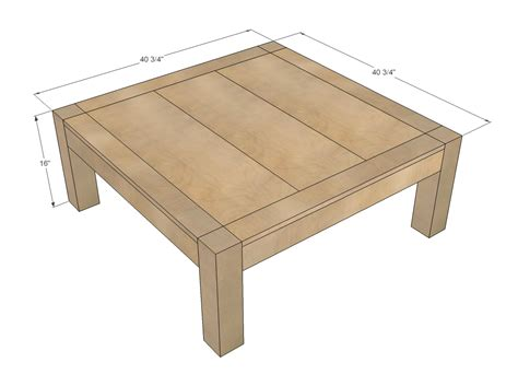 Dimensions Of A Coffee Table White Itable Diy Projects