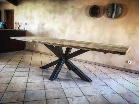 Pied De Table Metal Design 5795 by Table Bois M 233 Tal Pied Central Acier Cr 233 Ation Design