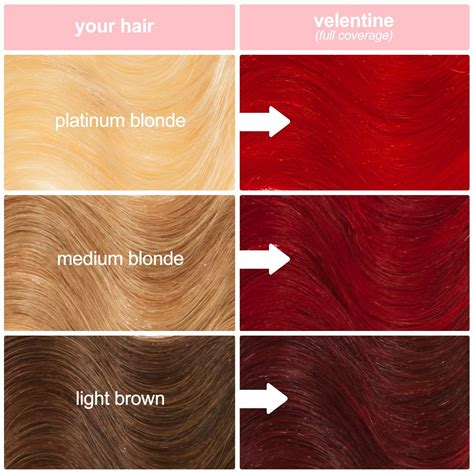 hairstyling products that temperaily give brunette hair warm brown tones valentine bright red vegan semi permanent hair dye sle