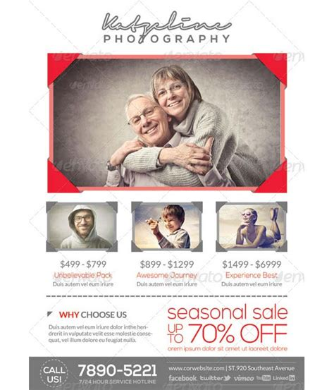 photography flyer template sle templates