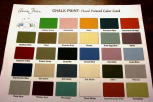chalk paint color chart ecochic
