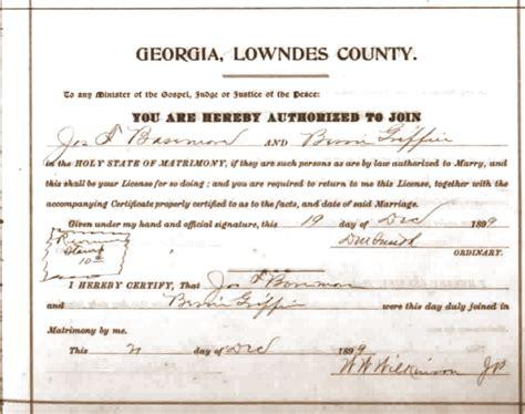 Marriage License Records Ga S Mill Ga City History