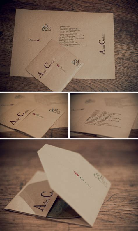 Make Paper Cd Sleeve - diy cd favour place setting for your wedding rock my wedding