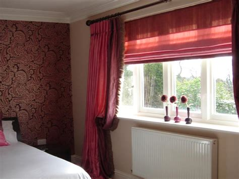 curtains with matching roman blinds custom made pinch pleat curtains with roman blind hole