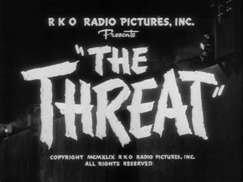 known threat o connor books the threat 1949 felix e feist 171 twenty four frames